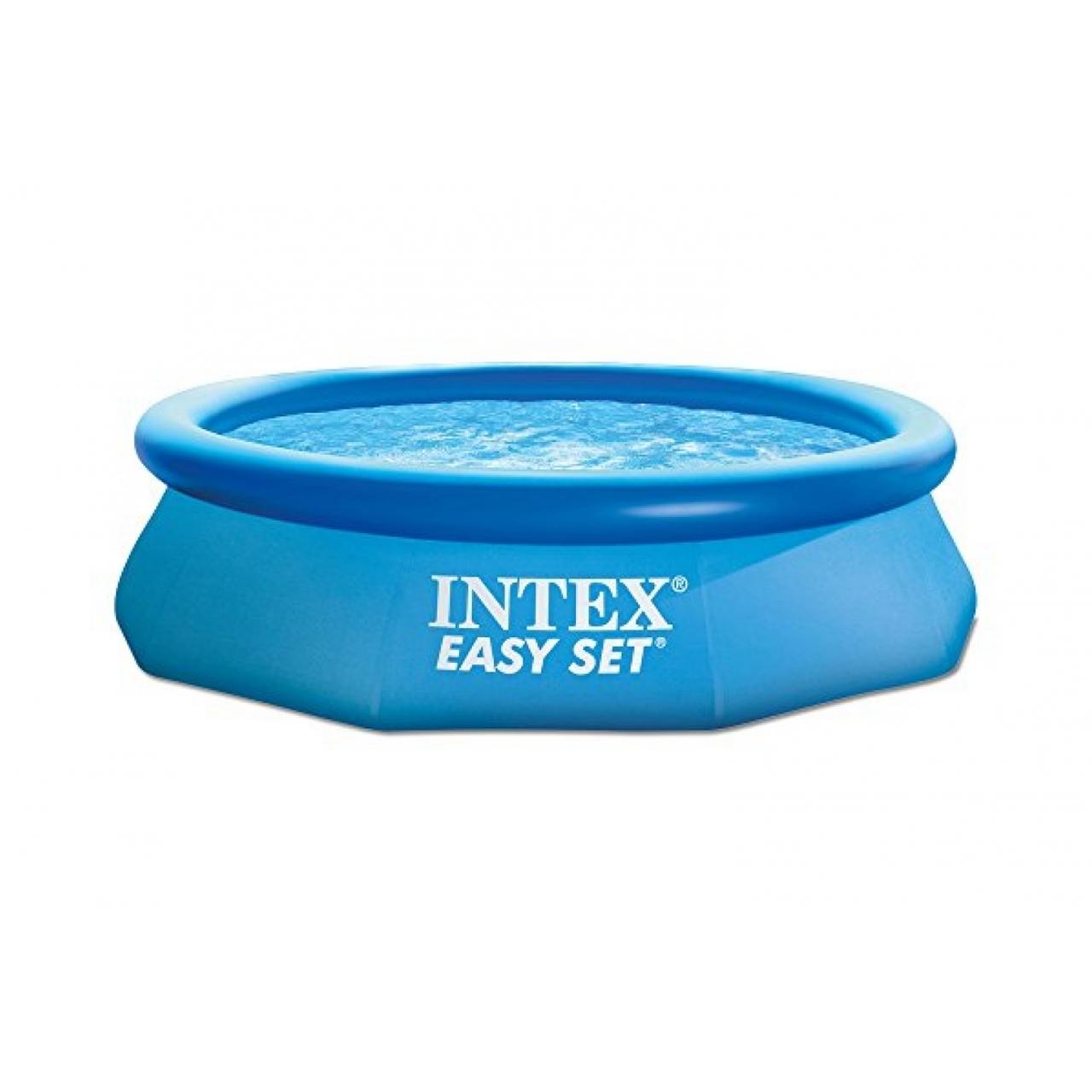 Intex easy set pool test for Gartenpool eingebaut