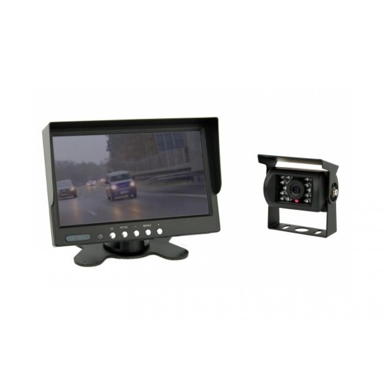 r ckfahrkamerasystem mit 7 zoll tft farb monitor farb kamera ip67 test. Black Bedroom Furniture Sets. Home Design Ideas
