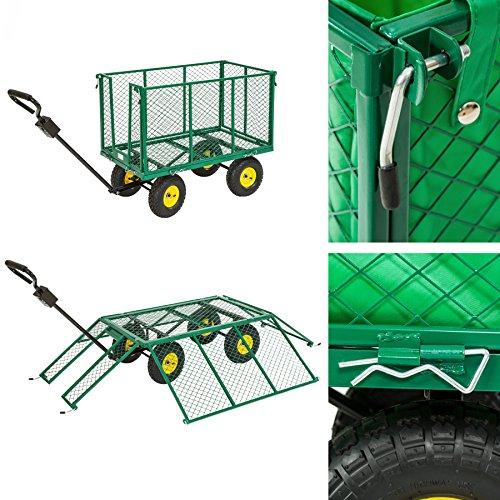 Tectake bollerwagen xxl test Chariot de jardin xxl